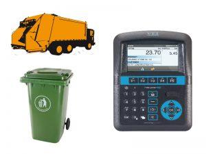 palubná váha pre smetiarske vozidlo